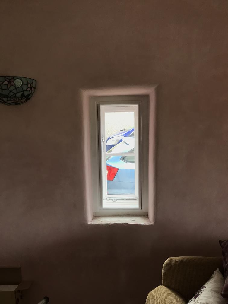 Interior view of installation of Secondary Glazing Yorkshire using acoustic glass for sound reduciton