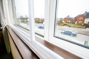 White Sliding Secondary Glazing